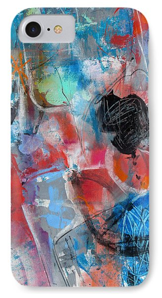 IPhone Case featuring the painting Hectic by Katie Black