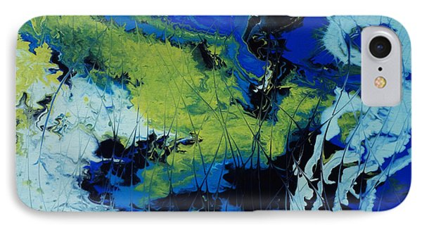IPhone Case featuring the painting Hectic Reflections by Arlene Sundby
