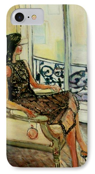 IPhone Case featuring the painting Heddy by Helena Bebirian