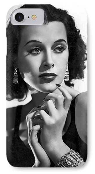 Hedy Lamarr - Beauty And Brains IPhone Case by Daniel Hagerman