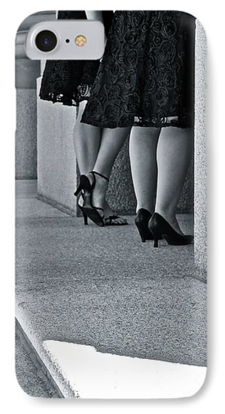 Heels And Lace IPhone Case by Linda Bianic