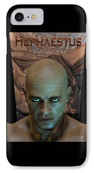 Hephaestus Vulcan IPhone Case by Quim Abella