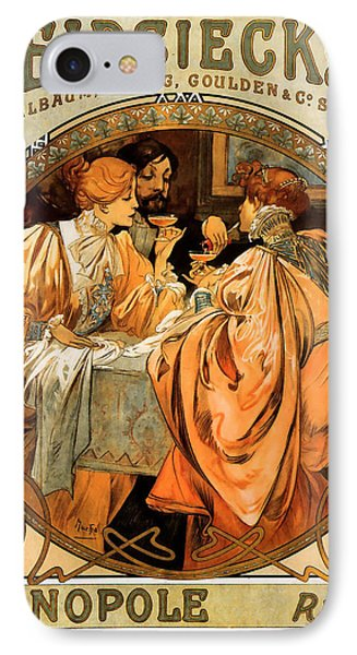 Heidsieck Champagne Poster Advert Phone Case by Philip Ralley