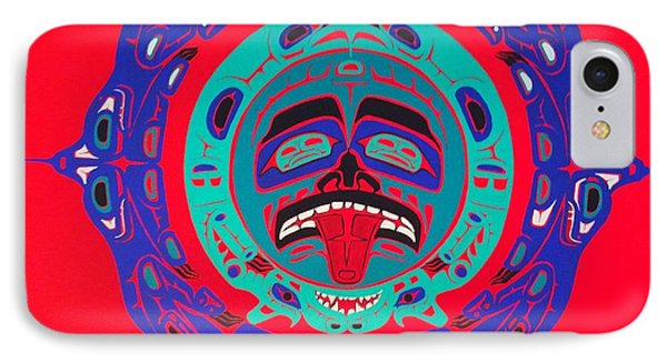 Heiltsuk Sun Four Bears IPhone Case by Fred Anderson jr