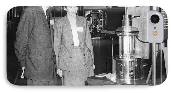 Heinz And Doris Wilsdorf IPhone Case by Emilio Segre Visual Archives/american Institute Of Physics