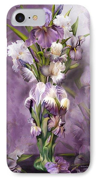 Heirloom Iris In Iris Vase Phone Case by Carol Cavalaris