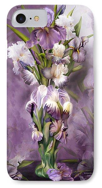 Heirloom Iris In Iris Vase IPhone Case by Carol Cavalaris