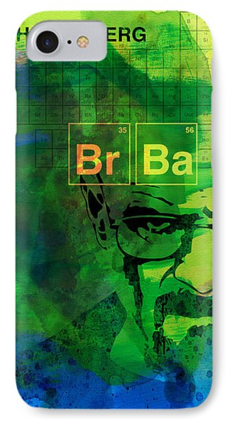 Heisenberg Watercolor IPhone Case by Naxart Studio