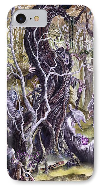 IPhone Case featuring the painting Heist Of The Wizard's Staff 2 by Curtiss Shaffer
