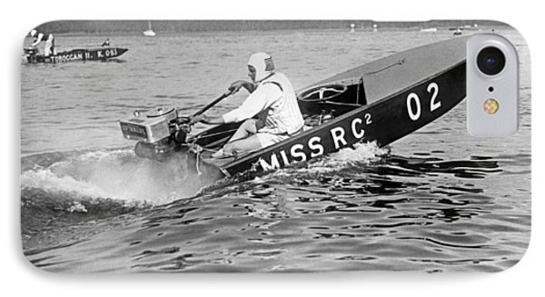 Helen Hentshel Of New York Wins The Class B Outboard Races IPhone Case by Underwood Archives