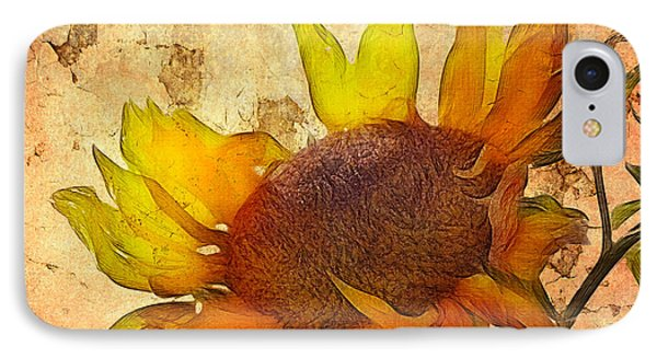 Helianthus IPhone 7 Case by John Edwards