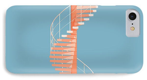 Helical Stairs IPhone 7 Case by Peter Cassidy