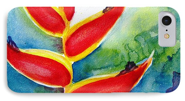Heliconia - Abstract Painting IPhone Case by Carlin Blahnik