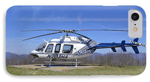 Helicopter On A Mountain Phone Case by Susan Leggett