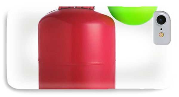 Helium Gas Cylinder And Balloon IPhone Case
