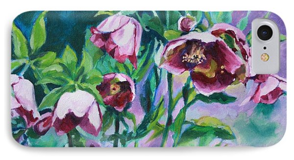 Hellebore Flowers IPhone Case by Jan Bennicoff