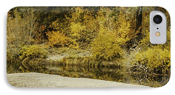 Hello Autumn Panorama Phone Case by Diane Schuster