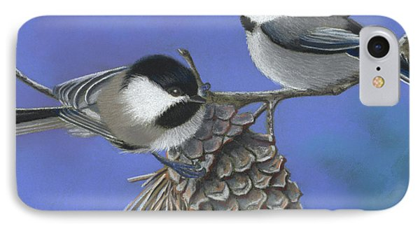 Hello Chickadees Phone Case by Tracy L Teeter
