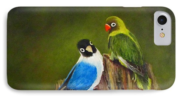 IPhone Case featuring the painting Hello by Roseann Gilmore