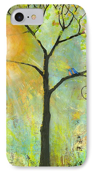 Hello Sunshine Tree Birds Sun Art Print IPhone 7 Case