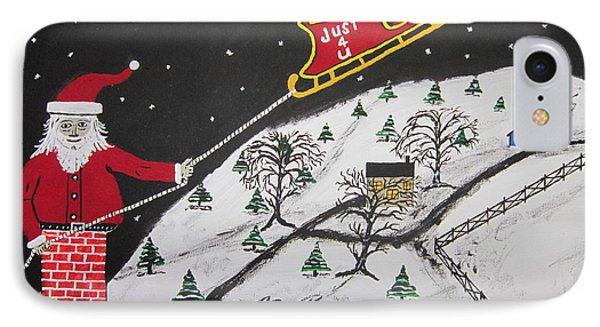 Help Santa's Stuck Phone Case by Jeffrey Koss