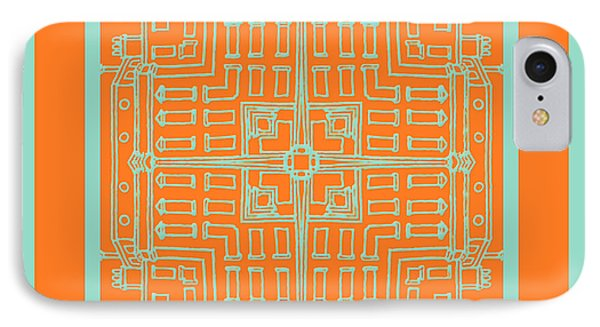 Hemlock And Celosia Orange Tile IPhone Case
