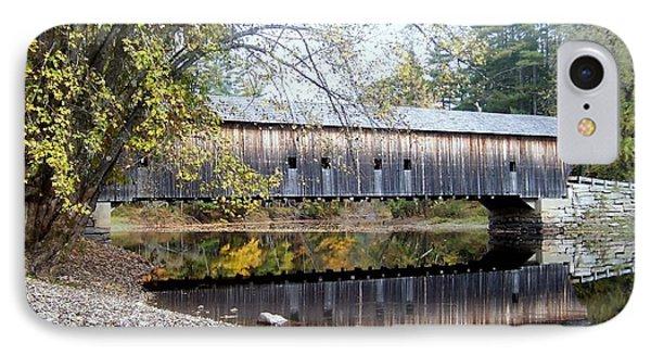 Hemlock Covered Bridge IPhone Case by Catherine Gagne