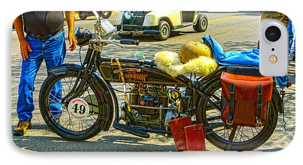 Henderson At Cannonball Motorcycle IPhone Case by Jeff Kurtz