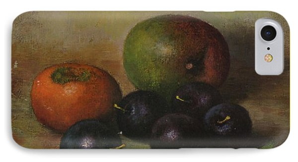 Henk Bos Fruits Still Life Plums  Phone Case by Pierpont Bay Archives