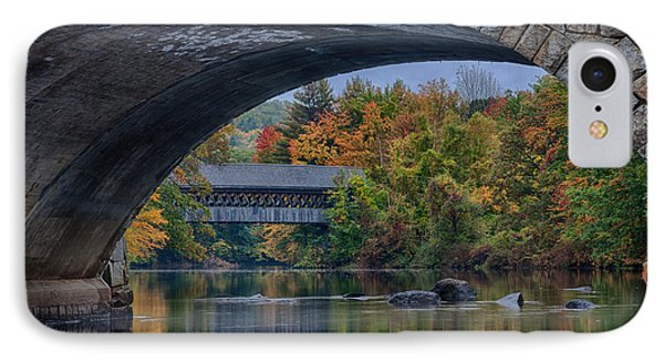 IPhone Case featuring the photograph Henniker Covered Bridge No. 63 by Jeff Folger