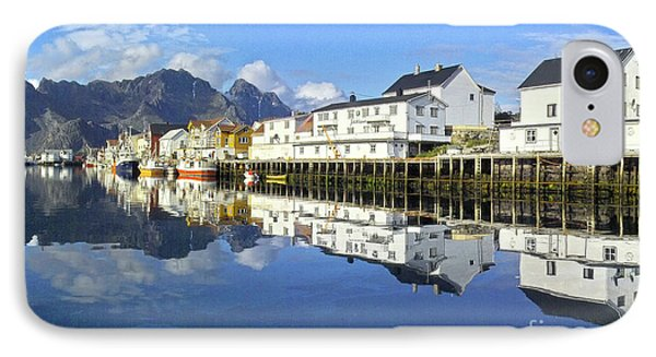Henningsvaer Harbour IPhone Case by Heiko Koehrer-Wagner