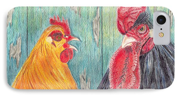 Henpecked IPhone Case by Arlene Crafton