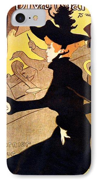 Divan Japonais Poster IPhone Case by Henri de Toulouse-Lautrec