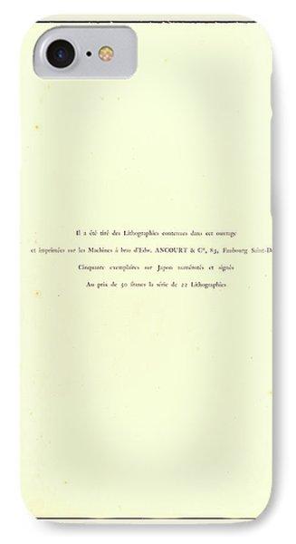 Henri De Toulouse-lautrec And Henri-gabriel Ibels French IPhone Case