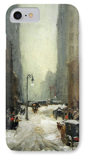 Henri's Snow In New York IPhone Case by Cora Wandel