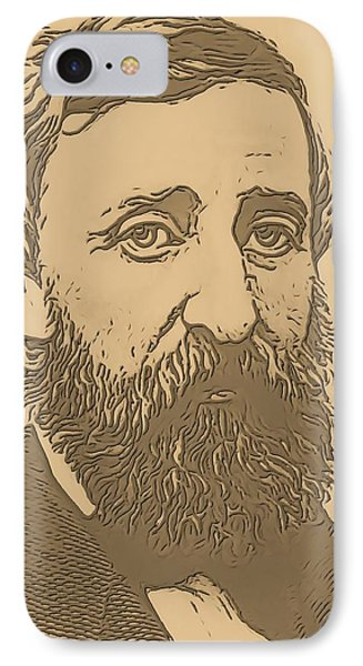 Henry David Thoreau IPhone Case by Dan Sproul