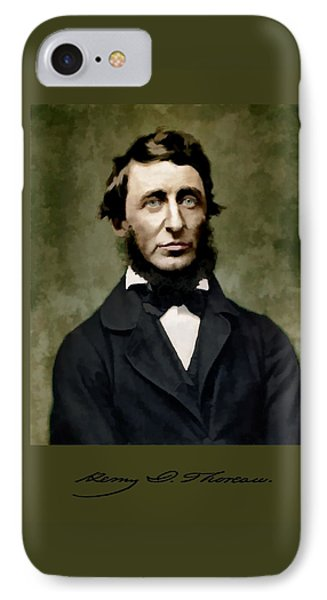 Henry David Thoreau IPhone Case by John Feiser
