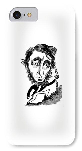 Henry David Thoreau IPhone Case by Tom Bachtell