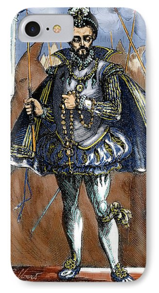Henry IIi Of France (1551-1589 IPhone Case by Prisma Archivo