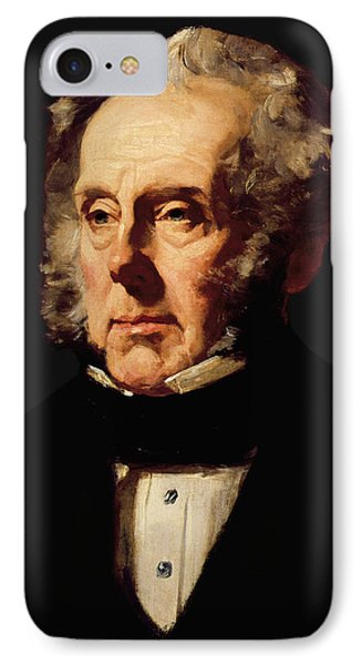 Henry John Temple, 3rd Viscount Palmerston, C.1855 Oil On Canvas IPhone Case by Francis Cruikshank