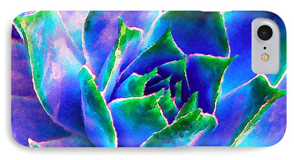 Hens And Chicks Series - Touches Of Blue  IPhone Case by Moon Stumpp