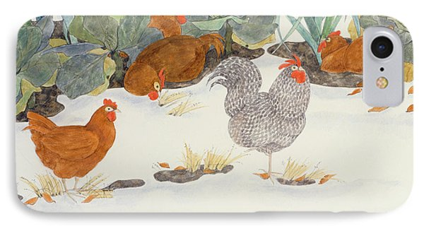 Hens In The Vegetable Patch IPhone Case by Linda Benton
