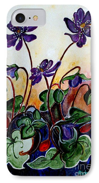 Hepatica After A Design By Anne Wilkinson IPhone Case