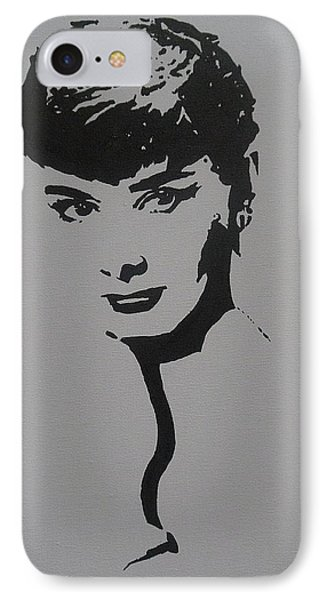 IPhone Case featuring the painting Hepburn by Cherise Foster