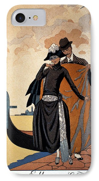 Her And Him Phone Case by Georges Barbier