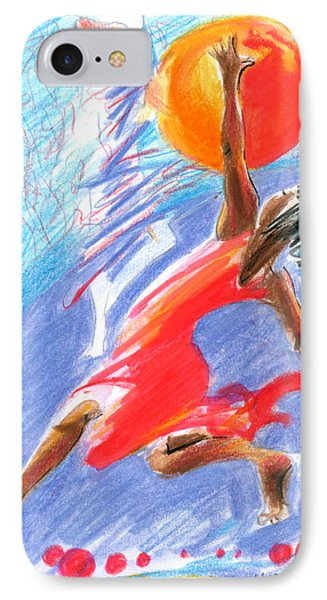 IPhone Case featuring the painting Her Dream Is To Dance by Mary Armstrong