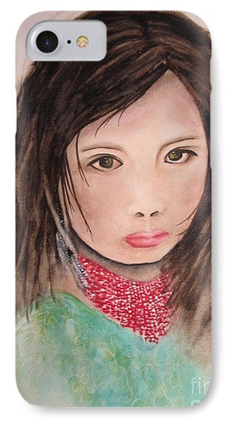 Her Expression Says It All IPhone Case by Chrisann Ellis