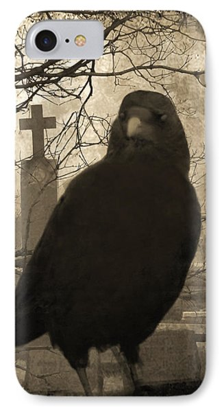 Blackbird iPhone 7 Case - Her Graveyard by Gothicrow Images