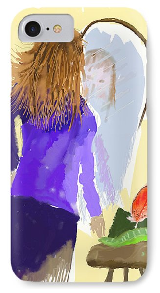 IPhone Case featuring the digital art Her Reflection by Arline Wagner