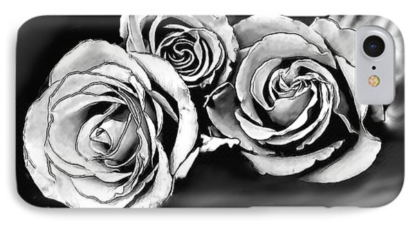 Her Roses IPhone Case by Bonnie Willis